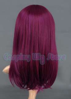Angel Beats Nakamura Yuri Cosplay Long Mix Purple Wig