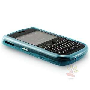 For Blackberry 9630 TPU Case , Clear Blue Circle Cell