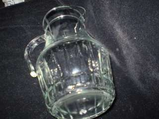 Depression Glass, 2 Qt., Clear, Paneled, Water Pitcher