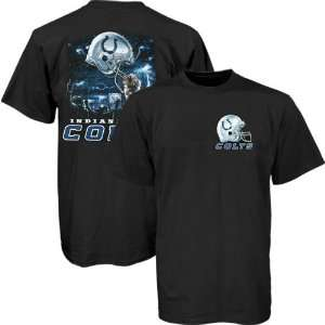 Indianapolis Colts Black Helmet To Sky Graphic T shirt