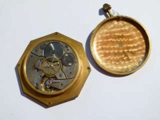 Antique ART DECO Travel Watch Clock Swiss OCTAVA WATCH CO Pocket Watch