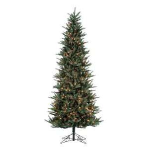 Spruce Slim Artificial Christmas Tree   Multi Lights