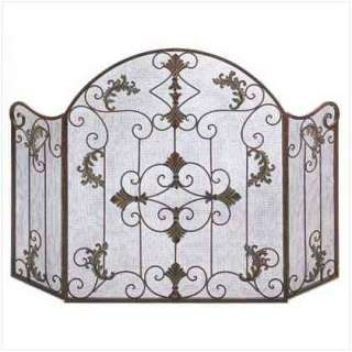 French Art Deco Modern iron Scroll FIREPLACE SCREEN 46