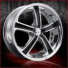 18 inch VCT Massino chrome wheels Rims 5x120 +40