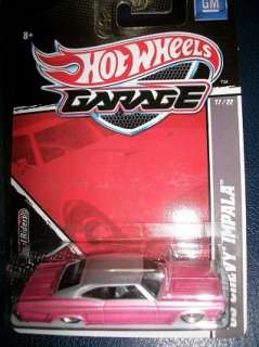 65 Chevy Impala 2011 Hot Wheels Garage Ford Series 11/22 case j