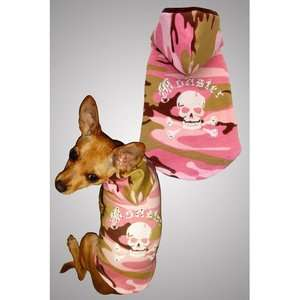 Hip Doggie Monster Big Dog Hoodie in Pink Camo Dogs