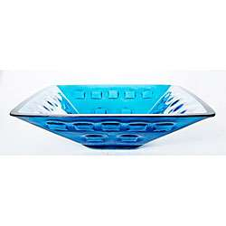Forgee Clear Aqua Square Glass Vessel Sink