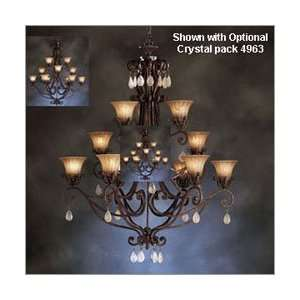 Kichler 70497 Cottage Grove Indoor 12 Light Carre Bronze Incandescent