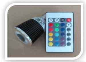 Wholesale Lot of 10 LED Spotlight Remote Controlled RGB