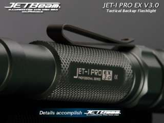 JETBeam JET I Pro EX V3.0 Cree XR E R2 225 Lumens LED 2xAA Flashlight