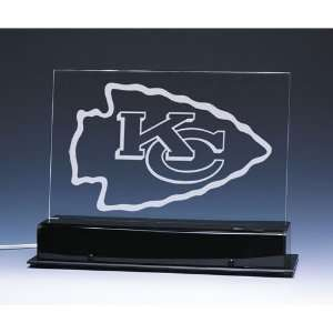 Kansas City Chiefs NFL Edge Light Team Logo Display