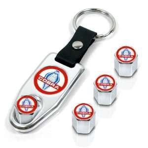 Ford Cobra Wrench Keychain & Tire Valve Caps Set