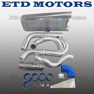 79 93 Mustang Complete turbo kit header intercooler 5.0 T70 T4 Blue