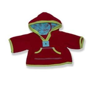 Red Fleece jacket Outfit Teddy Bear Clothes Fit 14   18