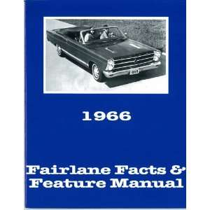 1966 FORD FAIRLANE Facts Features Sales Brochure Book