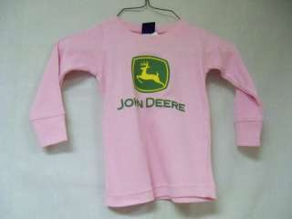 JOHN DEERE PINK INFANT SHIRT LONG SLEEVE SIZE 2T