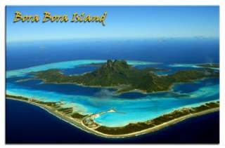 BORA BORA ISLAND FRENCH TRAVEL SOUVENIR FRIDGE MAGNET