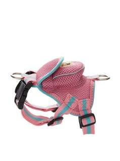 Fashion Pet Dog Mesh Harness leash with pouch