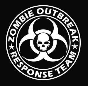 ZOMBIE Outbreak RESPONSE Skull Decal Sticker Car Truck Laptop PICK