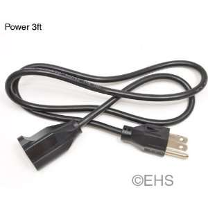 Extension Power cord 3ft Electronics