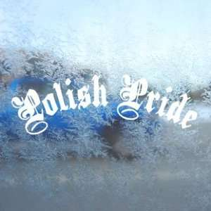 Polish Pride White Decal Car Laptop Window Vinyl White