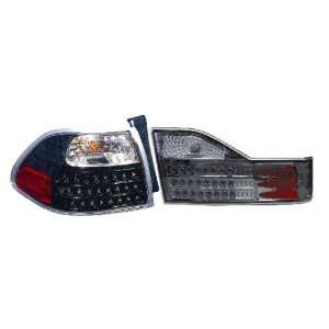 Depo Honda Accord Sedan 98 00 LED Black Altezza Tail Lights (Pair
