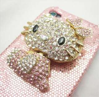 Bling Pink Hello Kitty hard back Case Cover for iPhone 4 4S