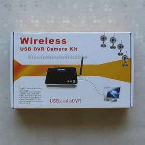 USB Wireless 4Channel Camera DVR Receiver Motion Detect