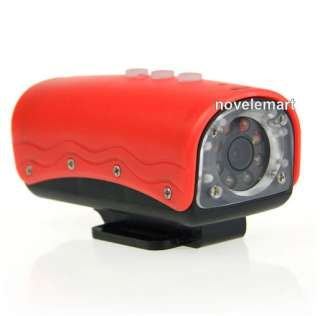Camera HD 720P Mini DVR 20 Meters Underwater Waterproof Red