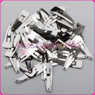 Lot of 50 Snap Hair Clips Baby Girls Hair Bow DIY 30mm/40mm/50mm You