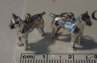 Sterling Silver Fox Jack Russell Bull Terrier Dog Charm
