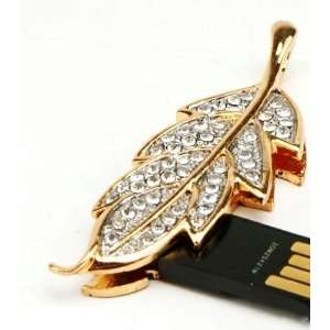Leaves Style USB Flash Drive with necklace