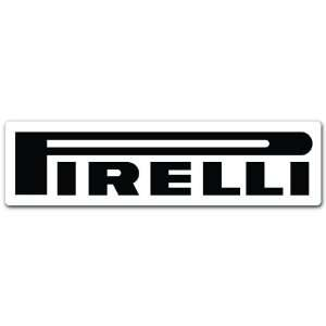 Pirelli Racing Car Bumper Sticker Decal 7x2