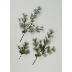 Club Pack of 12 Verde Pine Christmas Floral Sprays 26