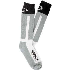 ANSWER KNEE HIGH THICK MOTO SOCKS GRAY/WHITE 5 9