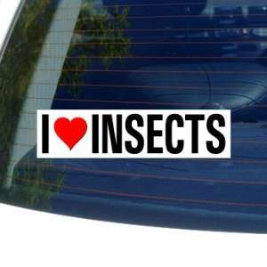 I Love Heart INSECTS   Window Bumper Sticker Automotive