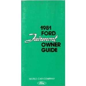 1981 FORD FAIRMONT Owners Manual User Guide Automotive