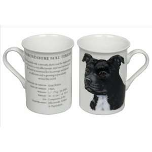 com Best of Breed   Staffordshire Bull Terrier Black Fine Bone China