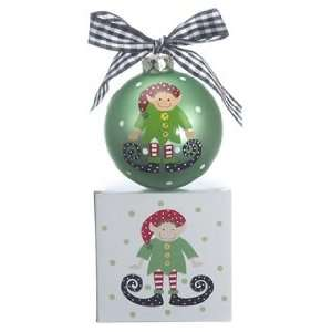 Personalized Elf Boy Christmas Ornament