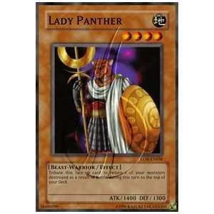 Lady Panther / Single YuGiOh Card in Protective Sleeve Toys & Games