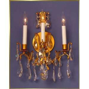 Wrought Iron Wall Sconce, MG 9130, 3 lights, French Gold, 12 wide X