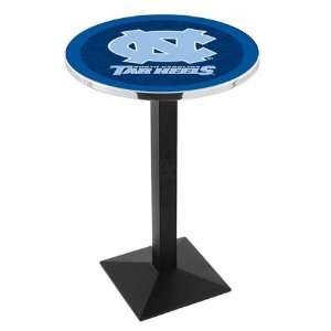 42 UNC Bar Height Pub Table   Square Base Sports