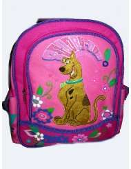 scooby doo pink flower kids backpack bag tote girls new