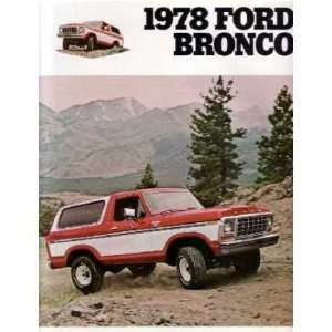 1978 FORD BRONCO Sales Brochure Literature Book Piece