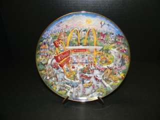FRANKLIN MINT MCDONALDS GOLDEN MOMENTS PLATE #2