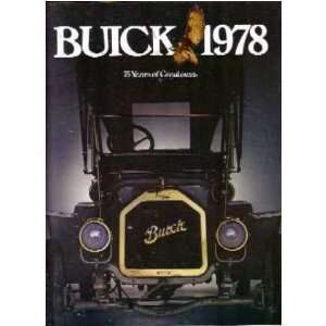 1978 BUICK Sales Brochure Literature Book Piece