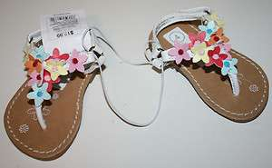 Genuine Kids Oshkosh Amaya Multi Flower Butterfly Sandal Shoes Size 2