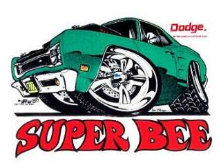 1969 DODGE SUPER BEE MUSCLE CAR T SHIRT CD71