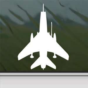 F 100 Super Sabre Fighter White Sticker Laptop Vinyl