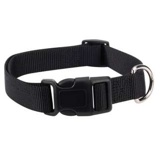 Zack & Zoey Nylon Dog Collar 3/8 1 Adjusts 6 26 BLACK
